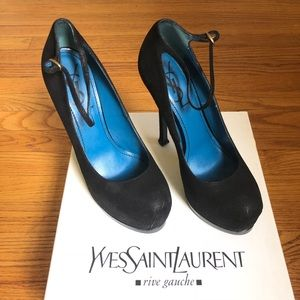 YSL Tribute Too Mary Jane Leather platform pumps